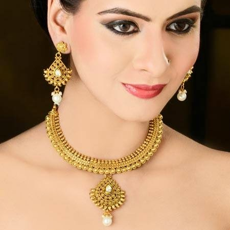 Indian Jewelry 2015 Necklace And Earring Designs For Girls By Kaneesha Wfwomen