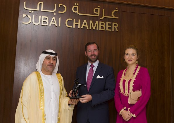 Prince Guillaume and Princess Stephanie visited Dubai Chamber of Commerce, Expo 2020 Dubai construction site and Dubai harbour