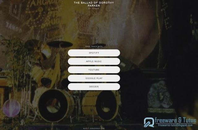 Songwhip : un service Web pour partager des liens de chansons