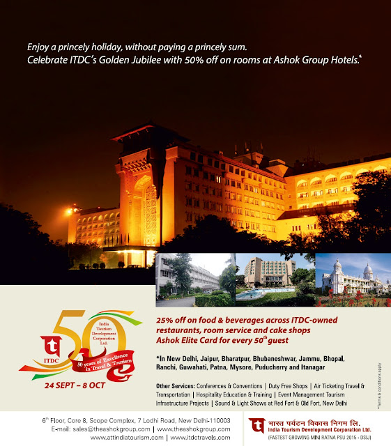 ITDC celebrates 50 golden years with 50% discount across hotels