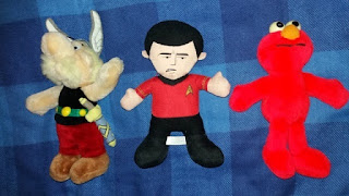 Asterix, Scotty and Elmo.