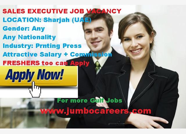 sales excutive jobs in sharjah uae, sales jobs latest in UAE