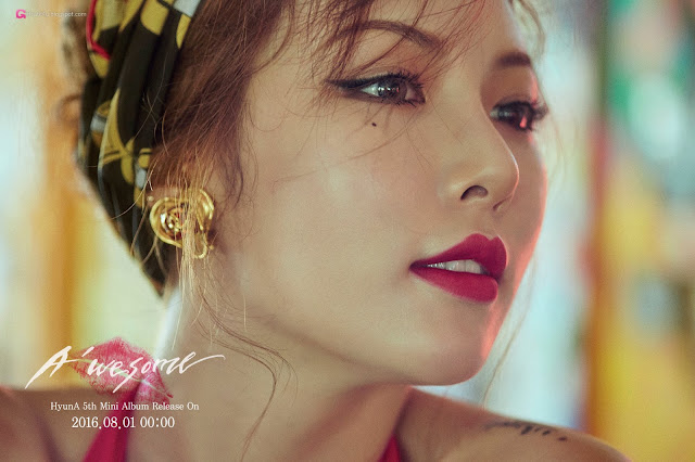 5 Kim Hyun Ah - A'Wesome Photobook BTS Pics - very cute asian girl-girlcute4u.blogspot.com