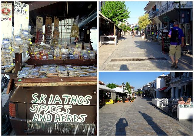Papadiamanti pedestrian street in Skiathos old town