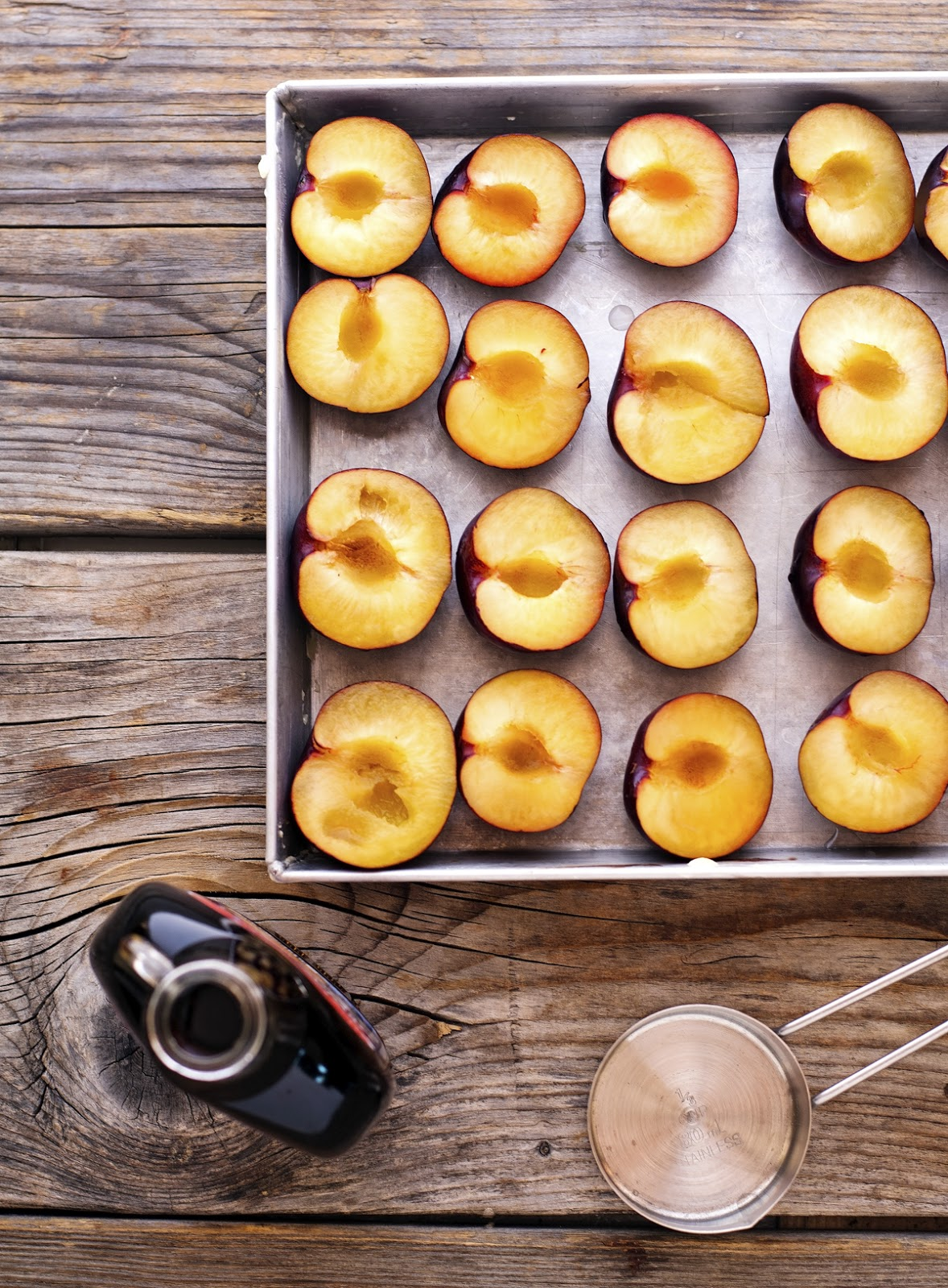 Simple Maple Vanilla Roasted Plums