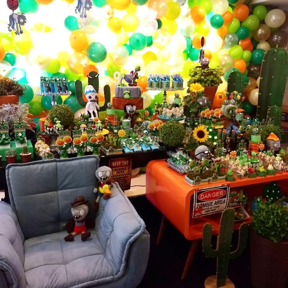 Enfeites De Zumbi ~ Festa Infantil com tema Plants vs Zombies Guia Tudo Festa Blog de Festas dicas e ideias!