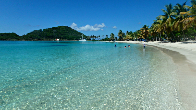 Caribbean Paradise on Mayreau in St Vincent and The Grenadines