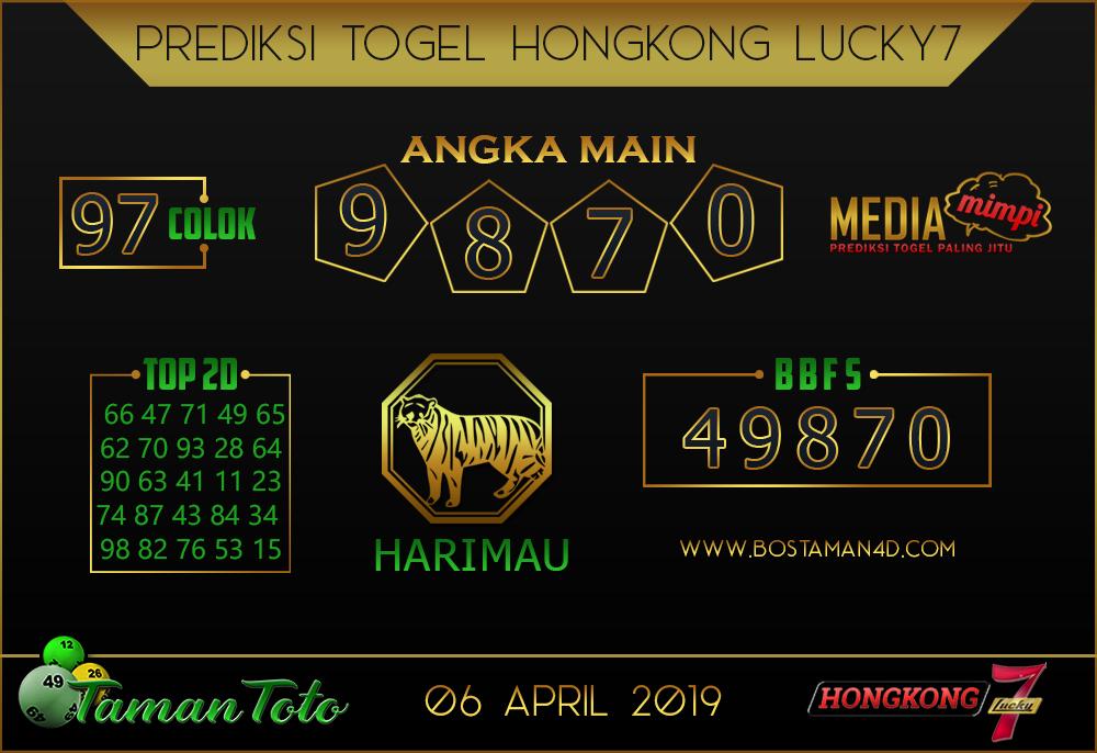 Prediksi Togel HONGKONG LUCKY 7 TAMAN TOTO 06 APRIL 2019
