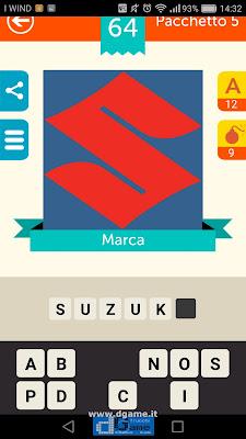 Iconica Italia Pop Logo Quiz soluzione pacchetto 5 livelli 64-75