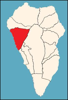 Mapa Municipios La Palma.Municipio Tijarafe Isla De La Palma Isla De Tenerife Vivela