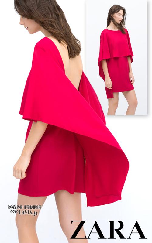robe cape fushia zara. Black Bedroom Furniture Sets. Home Design Ideas