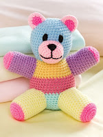 Crochet a Patchwork Teddy Bear Pattern using Scrap Yarn