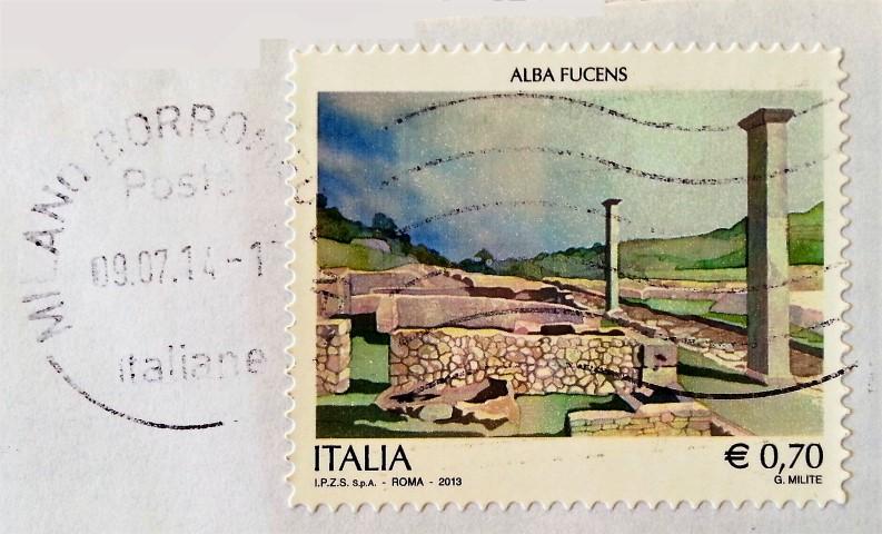 francobollo dedicato ad Alba Fucens (AQ)