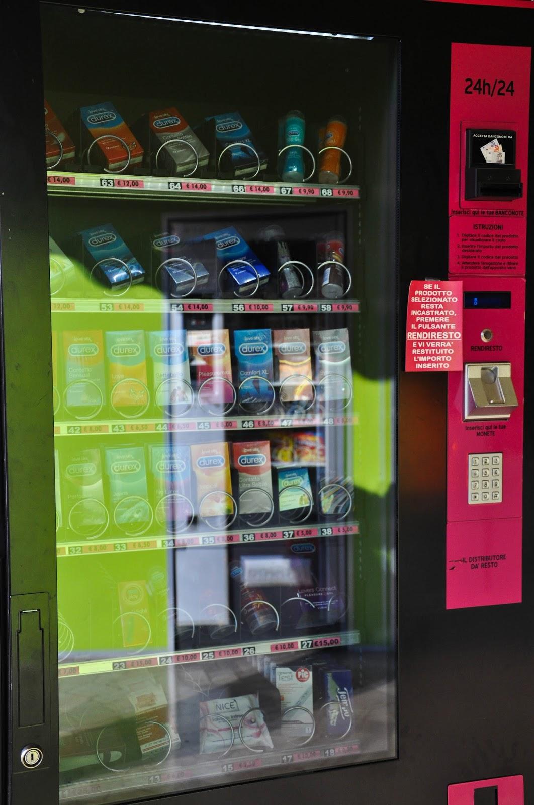 A condom-vending machine, Vicenza, Veneto, Italy