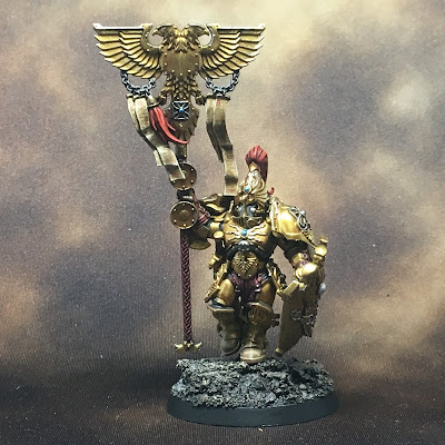 WIP Adeptus Custodes or Custodian Guard banner bearer gallery shot front