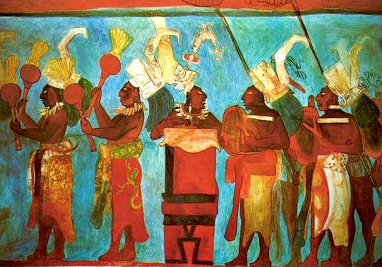 Bonampak Freskleri, Mayaların kendi geleneklerini resmettikleri renkli duvar resimlerden oluşmaktadır.