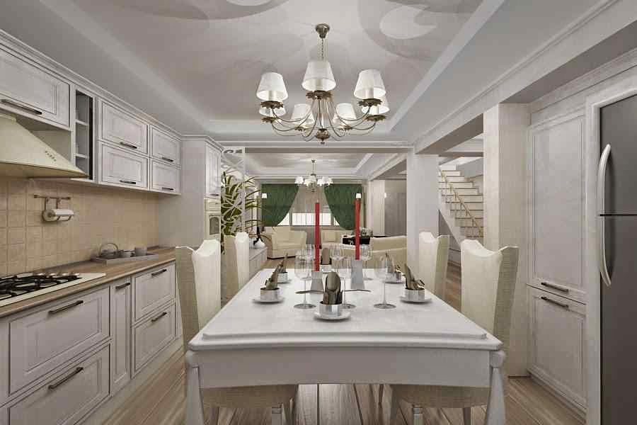design interior bucatrie clasic de lux