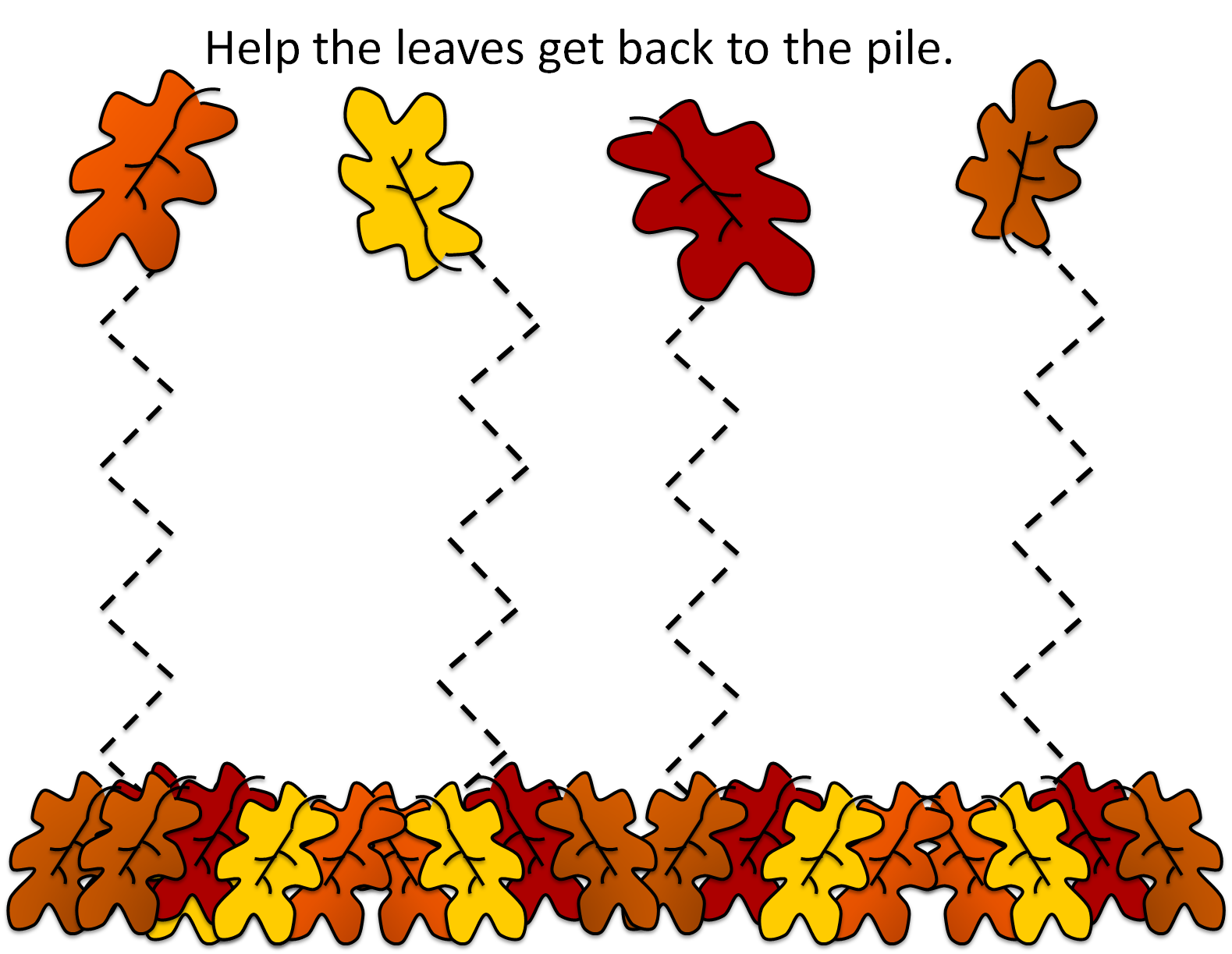 Fall Leaves Preschool Worksheet