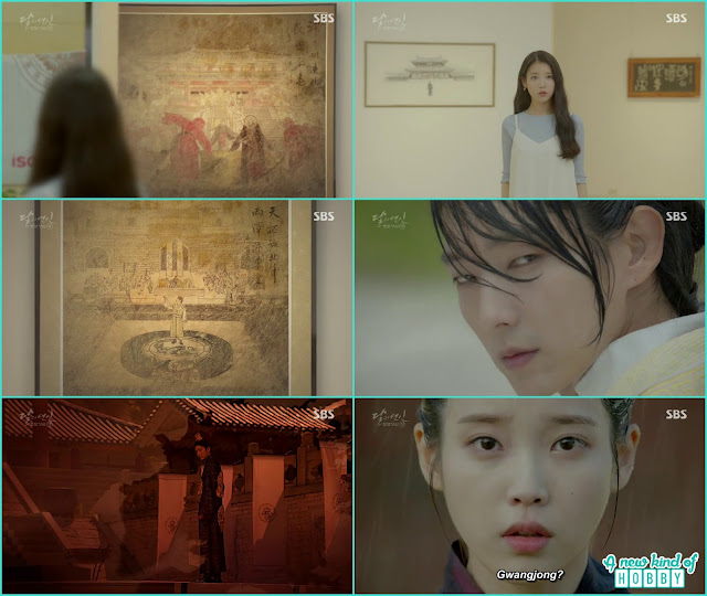 hae Soo in the gallery saw the goreyo time paintingsand saw gwangjo - Moon Lovers Scarlet Heart Ryeo - Episode 20 Finale (Eng Sub)