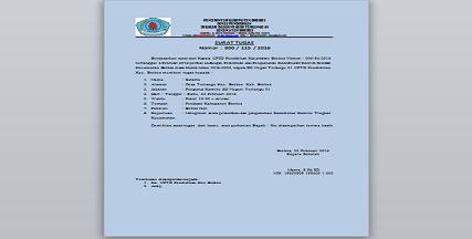Contoh Surat Keputusan Tugas Komite Sekolah