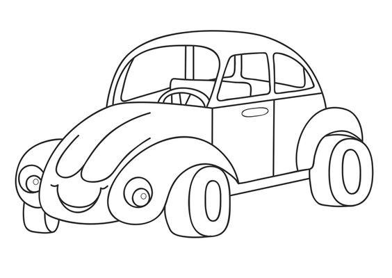 Tranh tô màu xe ô tô 2