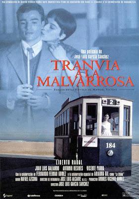 """""""Tranvía a la Malvarrosa"""", cartel de la película."""