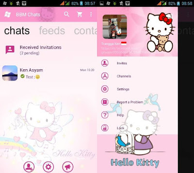Download BBM Mod Pink Hello Kitty Based 3.0.0.18