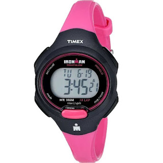 Timex Ladies T5K525 Ironman 10-Lap Hot Pink/Black
