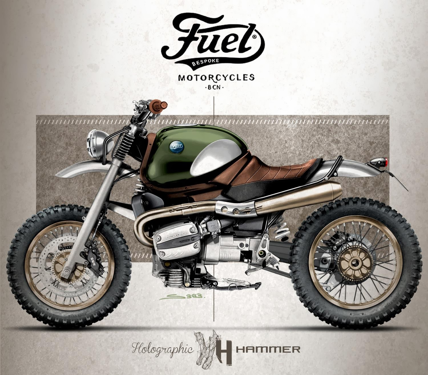 Racing Caf 232 Caf 232 Racer Concepts Bmw R 1100 R 2 By Holographic Hammer