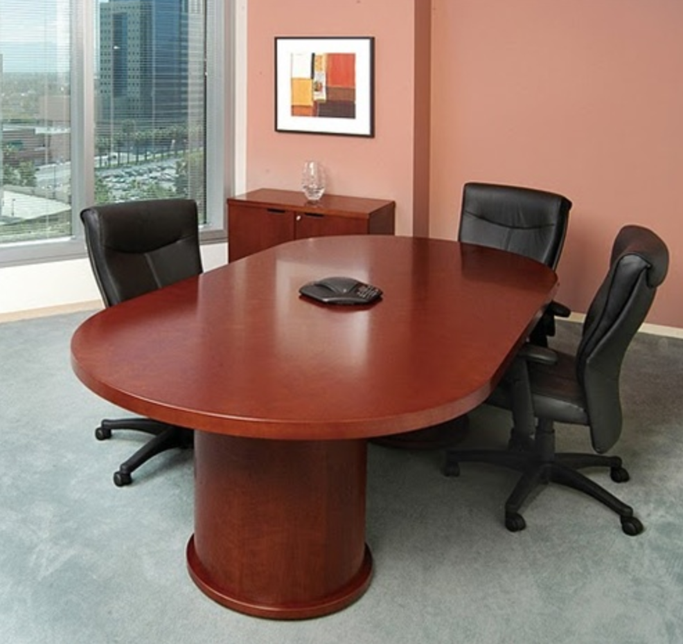 Mayline Mira Series Racetrack Conference Table