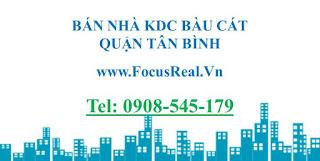 chuyên bán nhà đất khu Bàu Cát quận Tân Bình