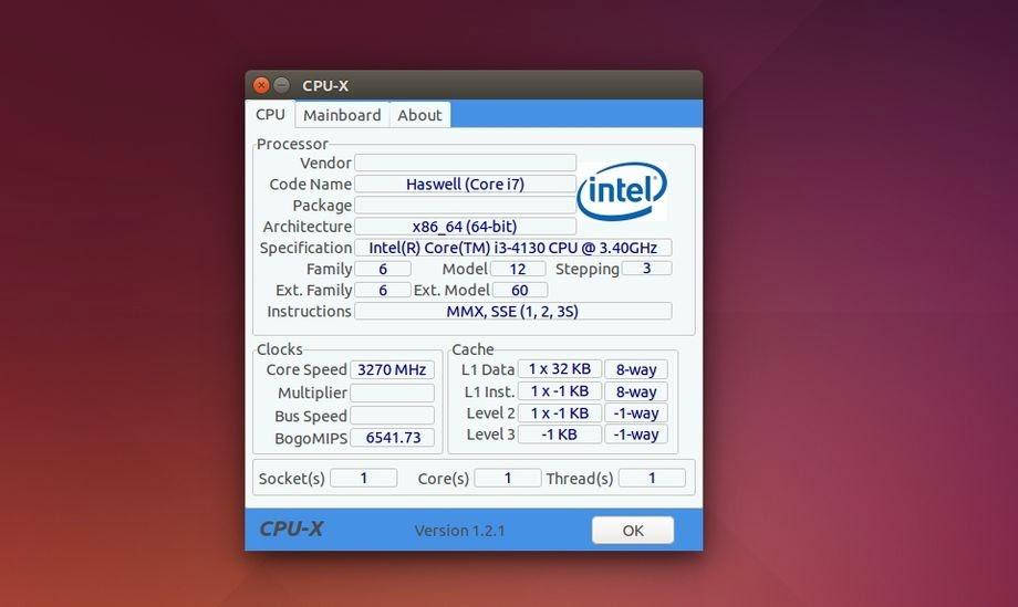 CPU-X portable alternative to CPU-Z - The Ubuntu Maniac