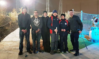 The Midlands Minigolf Club competitors at DinoFalls Adventure Golf