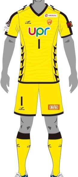 レノファ山口FC 2018 ユニフォーム-ゴールキーパー-2nd