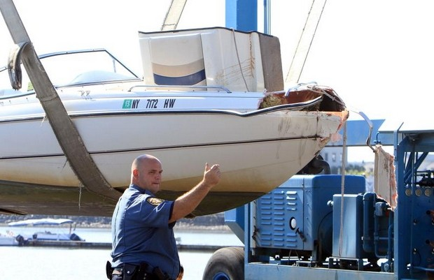 Boat that was involved in Friday nights fatal boat accident