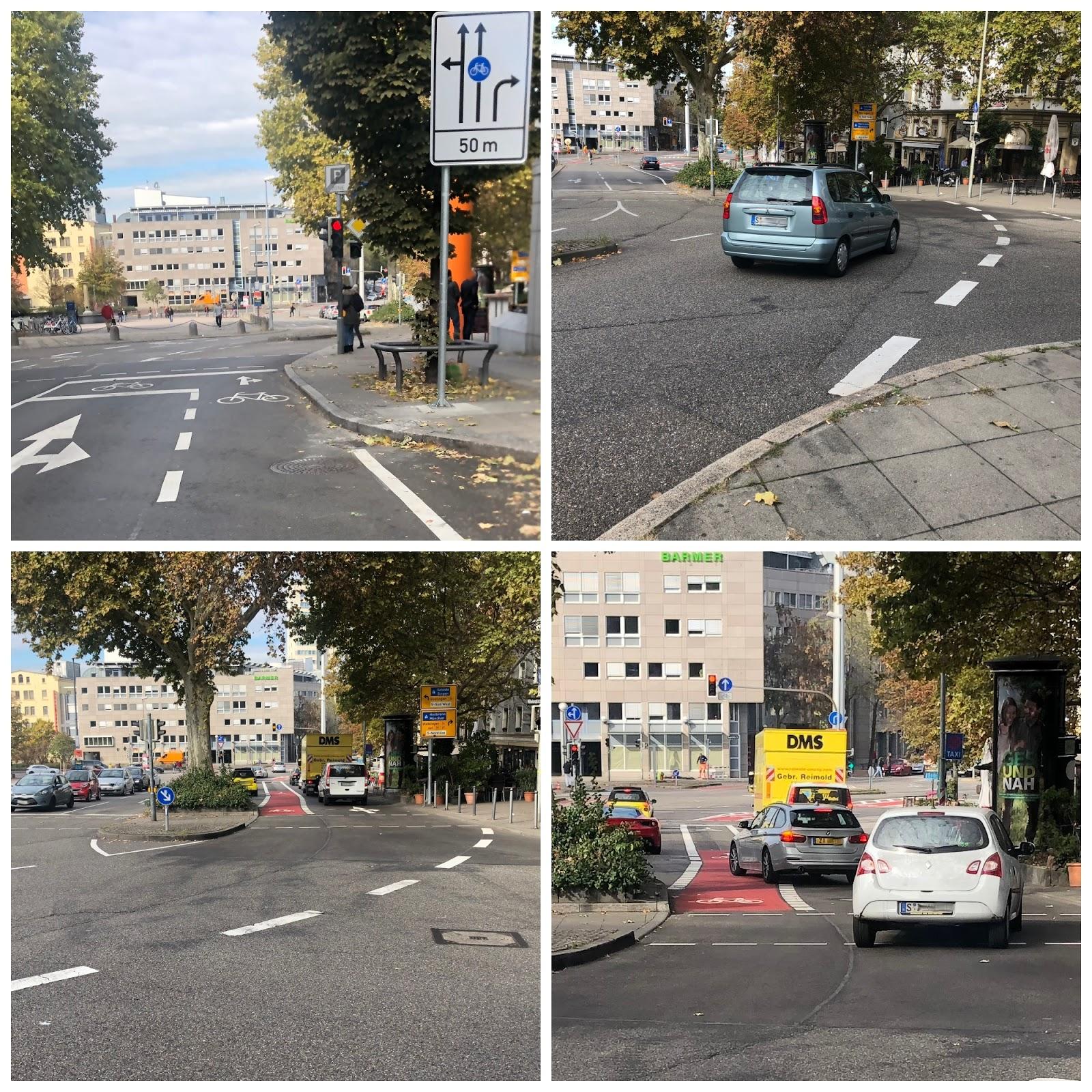 Radfahren In Stuttgart Radstreifen Für Hartgesottene