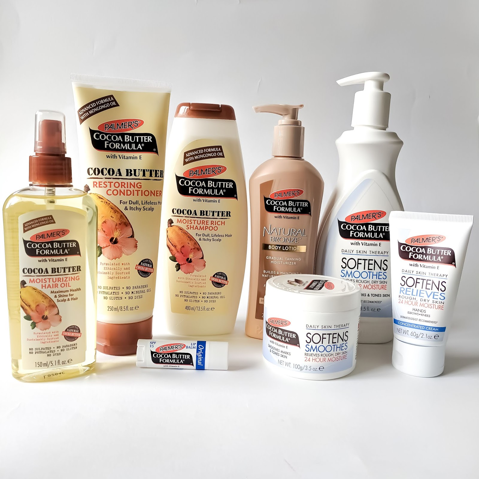 a collection of Palmer's Cocoa Butter products