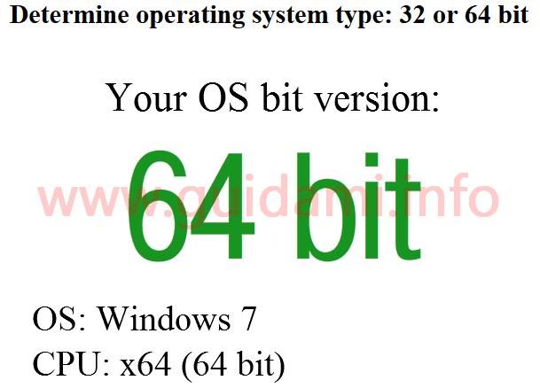 Sito per sapere se Windows è a 32 bit o 64 bit