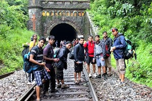 Goa welcomed our trekking group with beautiful tunnel entrance