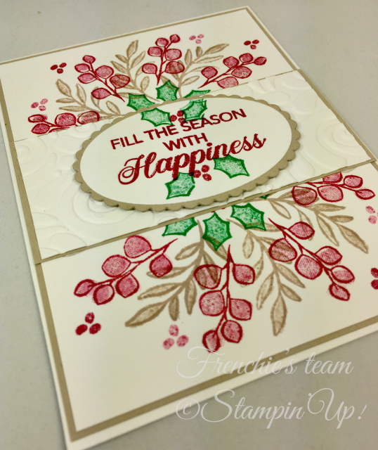 Card, Peaceful Noel, Swirls & Curls Embossing Folder, Christmas