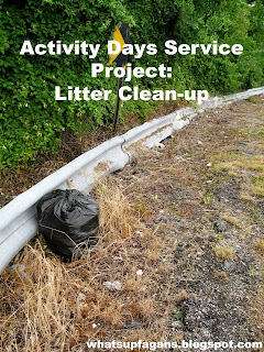 LDS Activity Days Service project - Litter Clean up!