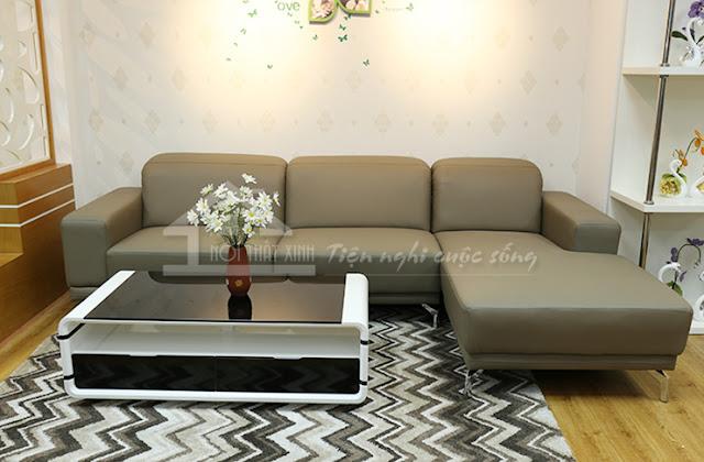 Phòng khách đẹp nhờ sự kết hợp tinh tế giữa thảm trải sàn và ghế sofa