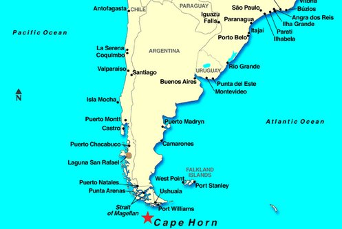 Cape Horn South Africa Map | Jackenjuul