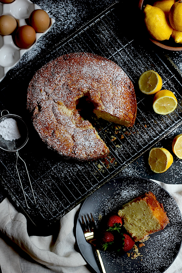 Lemon Pound Cake via Savor Home