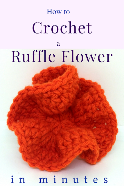 How to Crochet a Ruffle Flower in minutes
