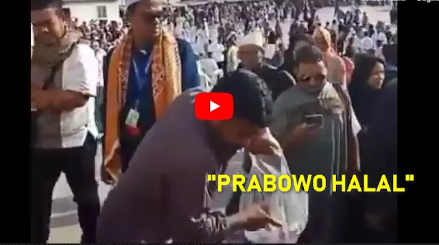 "Pedagang Arab di Masjid Quba Madinah: ""PRABOWO HALAL"""