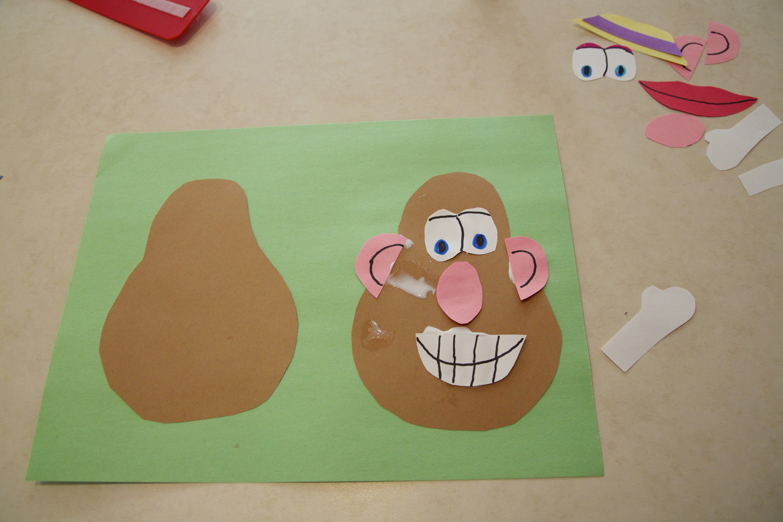 Preschool Arts And Crafts Body Parts