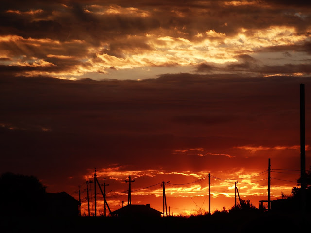 Iliczewsk - zachód słońca (25.08.2016); jeden z lepszych, które widziałem!