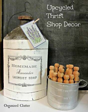 Thrift Shop Apple Cider Jug Upcycle