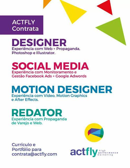 Oportunidade efetiva em Design Gráfico ou Publicidade e Propaganda 1